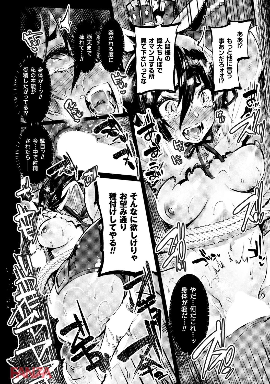 【エロ漫画無料大全集】敗れた強気な女戦士が拘束され種付け性奴隷として調教されてしまう...