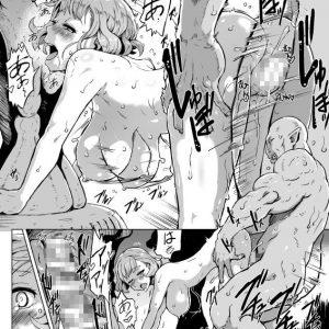オークどもに囚われ超肉棒の専用肉便器として鬼畜調教されていく美女ら…